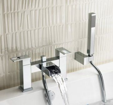 Everest Waterfall Bath Mixer Tap with Hand Held Shower [PT-TB113] - £133.09 : Platinum Taps & Bathrooms