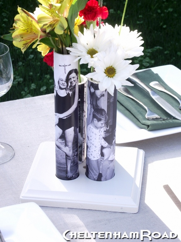 Cool photo centerpiece