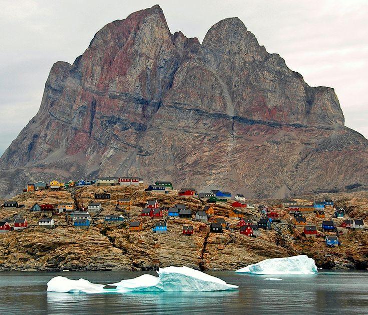 Uummannaq, Greenland, population: 1,299 By Zinni (from kateoplis)