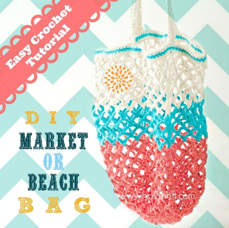 Free crochet pattern! Crochet Market tote bag pattern. #crochet #bag #pattern