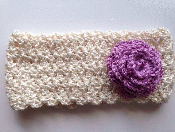 Crochet Headband Crochet Earwarmer flower by BumbleBsAndChickaDs, $15.00