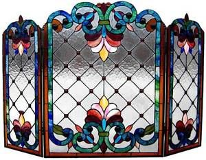 Best 25+ Stained glass fireplace screen ideas on Pinterest   Glass ...