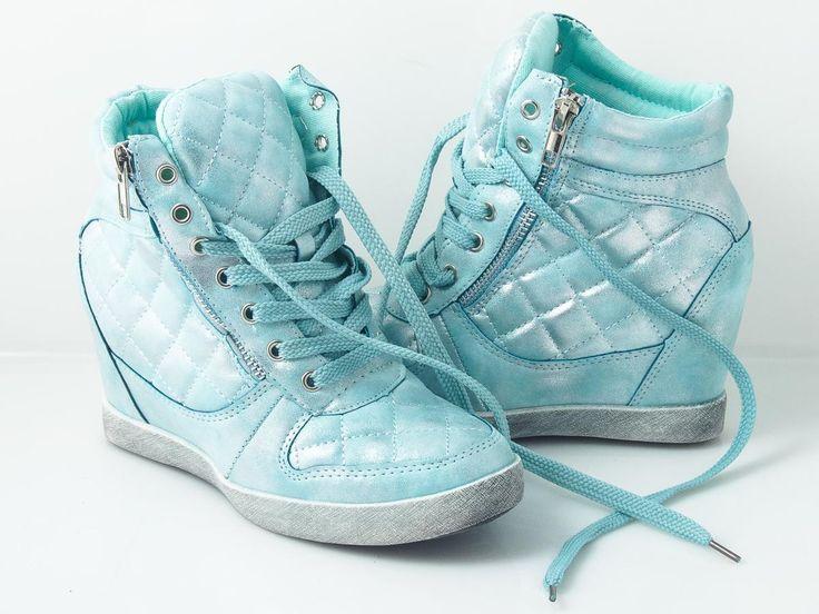 Sneakres tiffany blue mint shoes women  Kot w butach