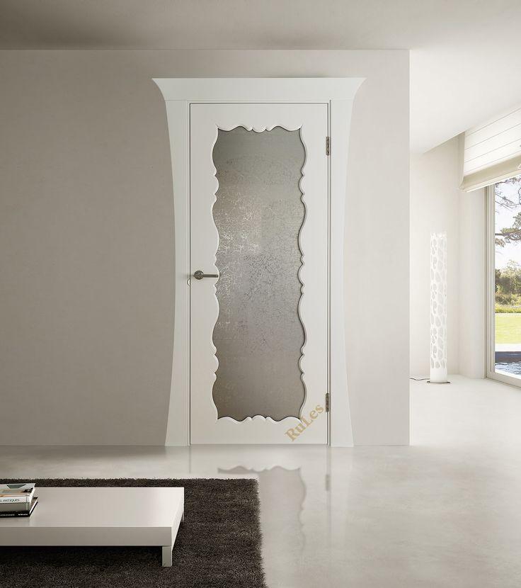 """Дверь """"Ронда"""" в отделке """"бежевый шелк"""", стекло """"Uadi"""". Наличник """"Грация"""". #двери #межкомнатные #интерьер #русский_лес #interior"""