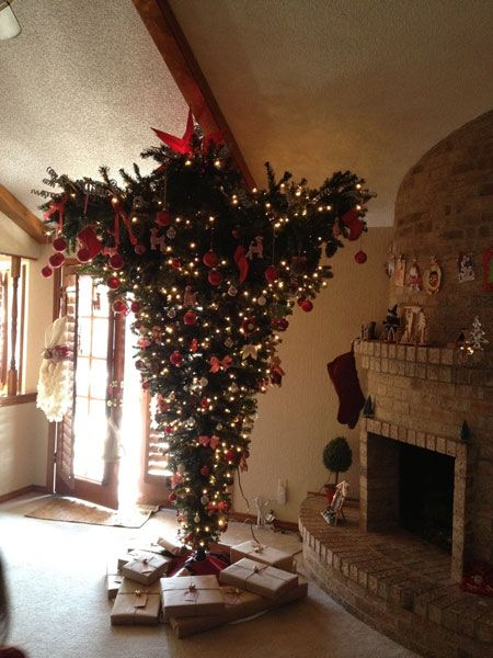 Australian Christmas tree:  I had a friend to do this and it was beautiful .... hard to hang up but beautiful.