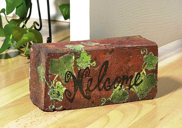 Ivy Stepping Stone & Brick - Crafts 'n things.  Maybe not this one, but something similar...