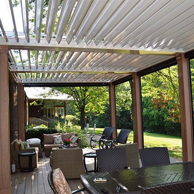 Louvered Roof Adjustable Pergola Gallery Outdoors