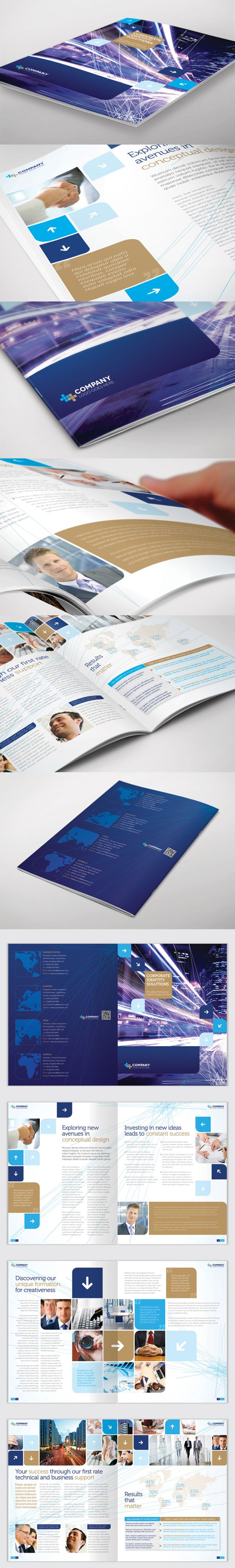 Brochure Template - InDesign 8 Page Layout 06 by BoxedCreative, via Behance