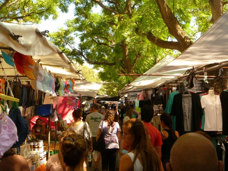 The Feria de Villa Biarritz in Montevideo, Uruguay is a great place to buy clothes, jewelry, souvenirs and even fruit!