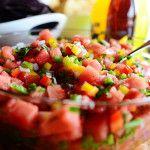 Watermelon Pico De Gallo  http://thepioneerwoman.com/cooking/2013/06/watermelon-pico-de-gallo/