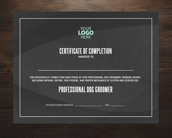 Certificate of Completion - Instant Download Certificate Template - Files Included: Photoshop File and MS Word