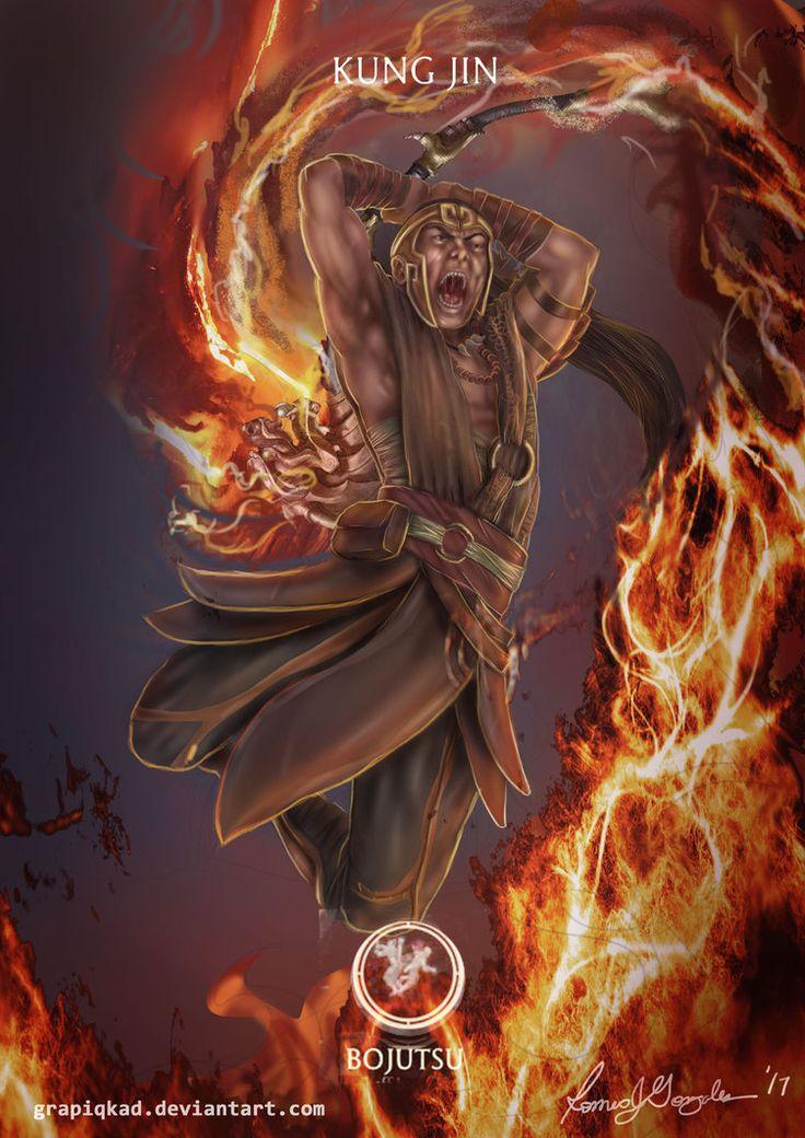 Mortal Kombat X-Kung Jin Bojutsu Variation by Grapiqkad
