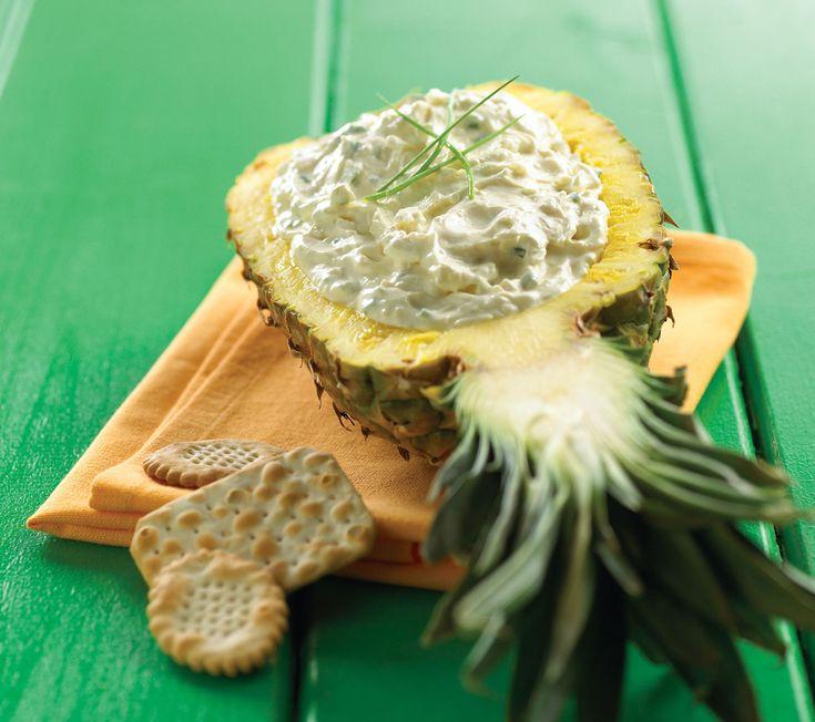 Trempette au fromage bleu et ananas