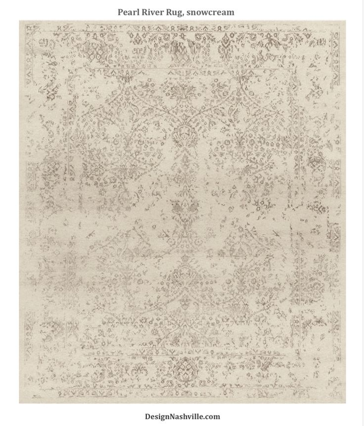 Pearl River Transitional Rug, snow cream