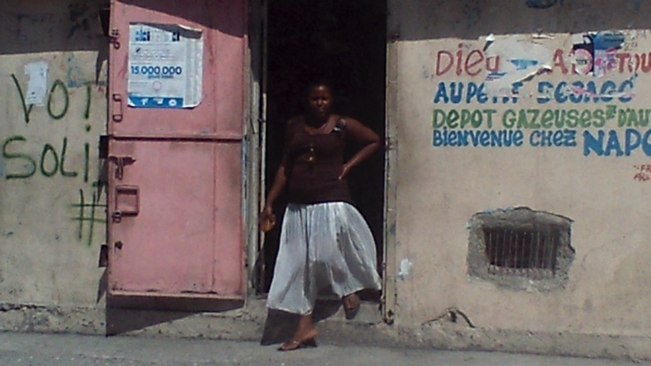 Leaving the airport in Port Au Prince, Haiti