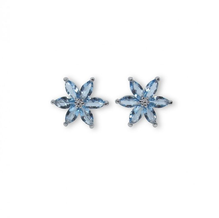 Tone earring baby blue