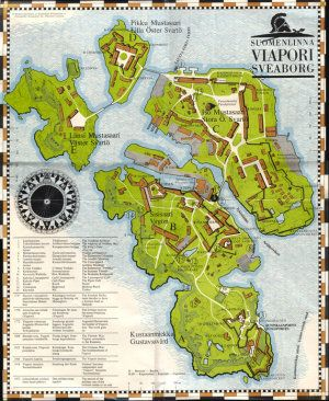 Map of Suomenlinna.