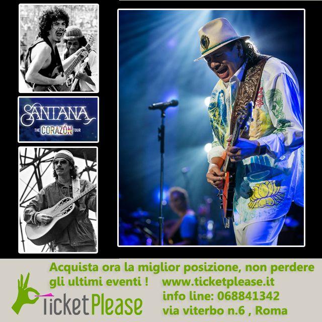 """Biglietti disponibili per la data del 20/07/ 2015 , presso  ARENA DI VERONA. info line: 068841342 Vieni a trovarci presso """" TICKETPLEASE"""" via Viterbo n.6, Roma. www.ticketplease.it """"The Corázon tour"""" di Carlos Santana, la tournée, in partenza dalla Florida, vedrà il musicista e la sua band promuovere dal vivo l'album """"Corázon"""" ; il prossimo luglio, Santana sarà protagonista all'Arena di Verona (20 luglio). @SantanaCarlos  #CarlosSantana #arenadiverona  @arenaverona"""
