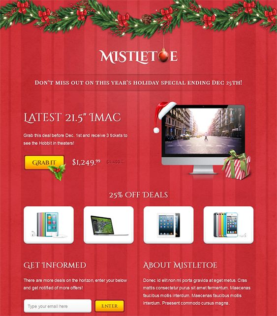 9 best more christmasholiday landing page email newsletter more christmasholiday landing page email newsletter templates pronofoot35fo Choice Image
