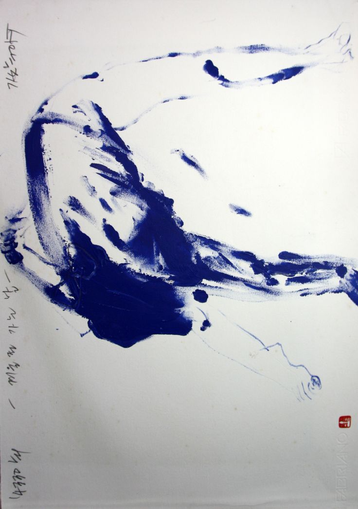 https://www.facebook.com/sahong.gum Gum-Sahong Drawing.Nude,blue 금사홍,누드,드로잉,블루