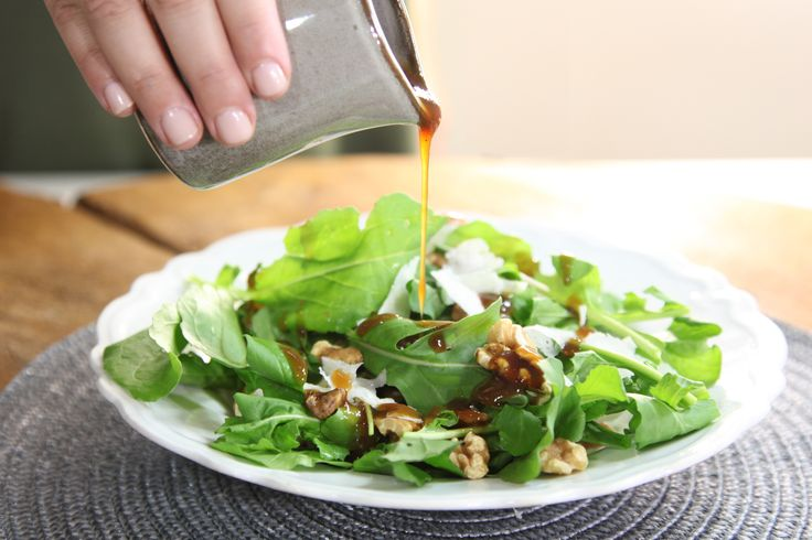 Bitter Salad Greens with Spiced Pear Paste Dressing - Maggie Beer