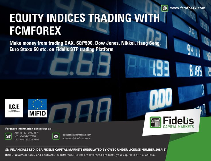 Equity Indices trading with FCMForex  Make money from trading DAX, S&P500, Dow Jones, Nikkei, Hang Seng,   Euro Stoxx 50 etc. on Fidelis STP trading Platform  For forex trading or currency trading please visit http://fcmforex.com/  #forextrading #currencytrading #highimpactdata #forexevents #fidelis #USD #Britain #India #Cyprus #Auckland #capital #UK #Brazil #Germany #Argentina #France #Canada #Mumbai #Mexico #Netherlands #Nigeria #Australia #Chile #Singapore