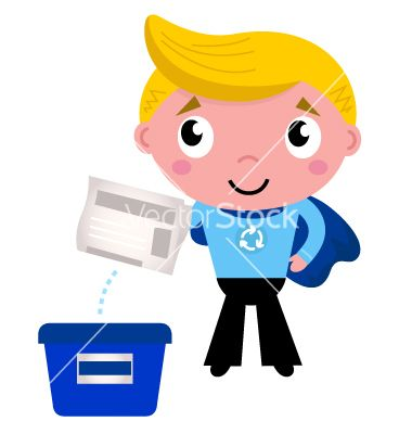 Cute recycle superhero boy separating garbage vector 1303983 - by lordalea on VectorStock®