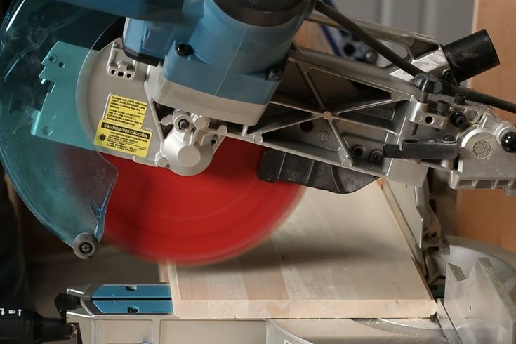 Learn how to cut wide boards using a miter saw by understanding the sliding feature and how it works.