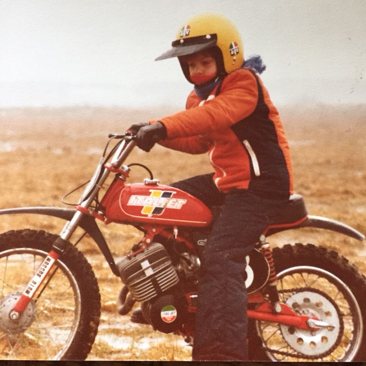 Young Kostenko on a Italjet 50cc motorbike