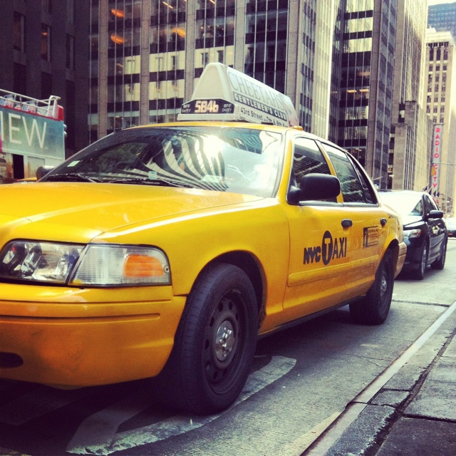 You know you're in New York City when all you see are these #yellowcabs #manhattan #newyorkcity