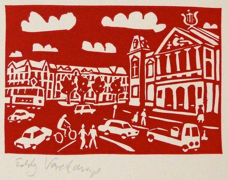 Concertgebouw, Amsterdam - Linocutprint