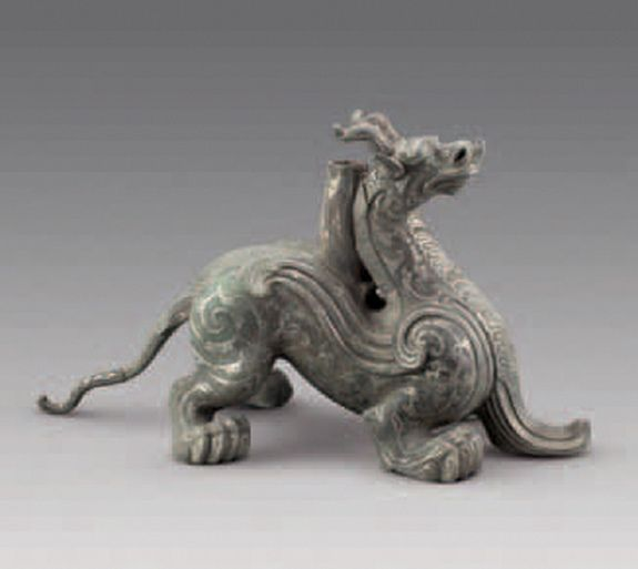 In Photos: Ancient King's Mausoleum Discovered in China; I note the spirals on the dragon's back leg.  From the tomb of Liu Fei