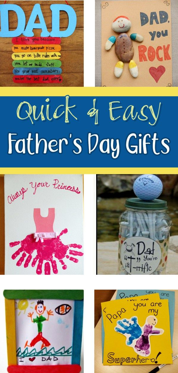 Diy Father S Day Gifts From Kids Quick Easy Gifts For