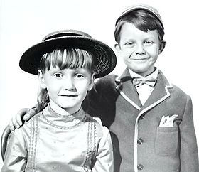 """Karen Dotrice and Matthew Garber. See them in """"Mary Poppins"""""""