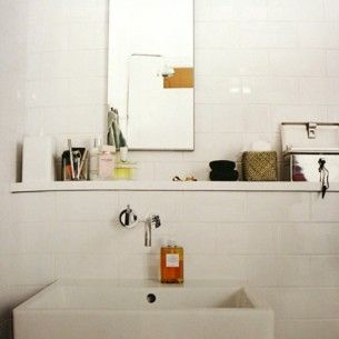 Simple and beautiful - white bathroom
