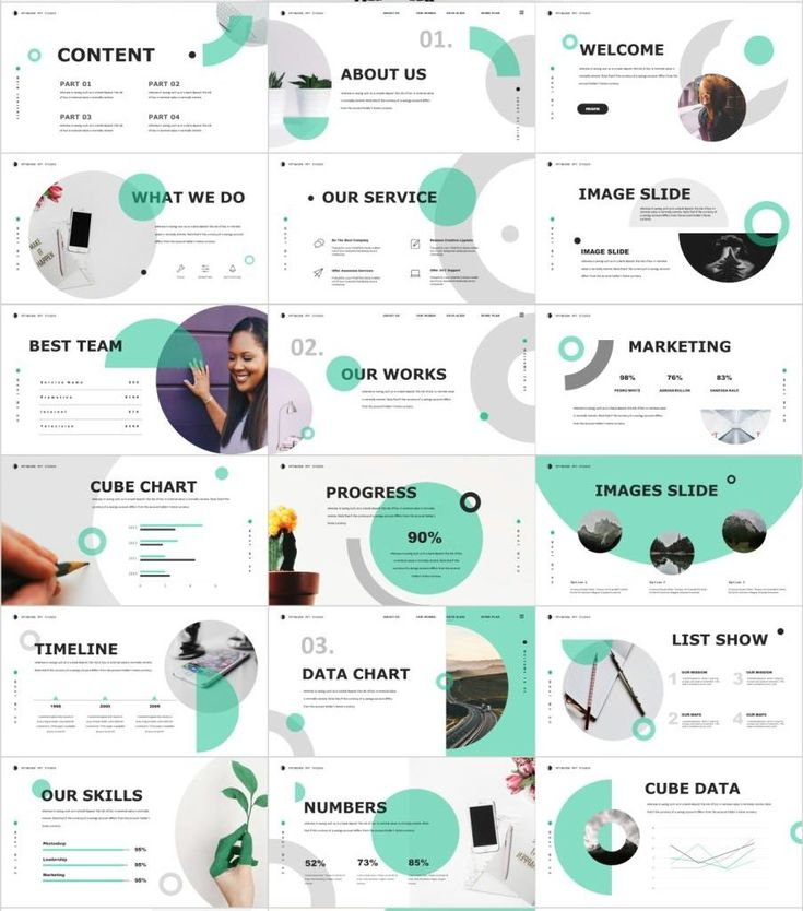 27+ Blue simple Business analysis PowerPoint template