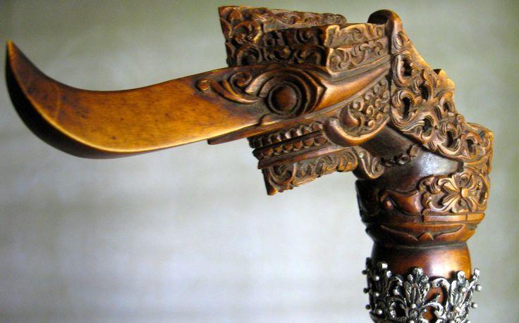 dagger handle rare antique carving