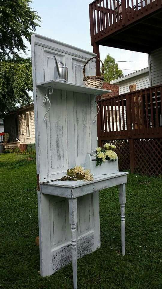 Antique door hall tree $175 from Rustic Decor & More 812-830-2820