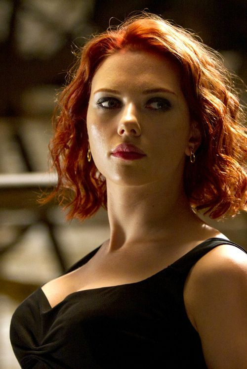 Scarlett Johansson in The Avengers. This is how I'm getting my haircut. Not sure on the color though.