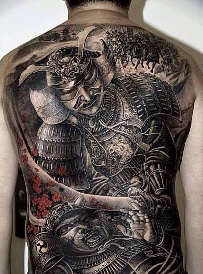 Gi t m nh v i 19 h nh x m samurai nh t b n c o v k for Japanese war tattoos