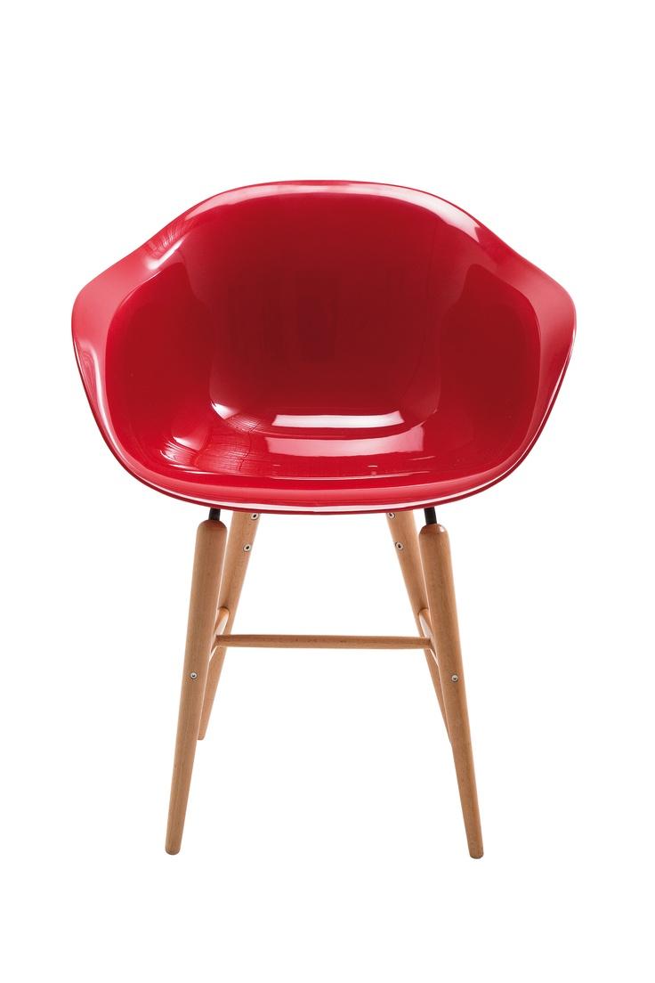 KARE Design Stylischer Armlehnstuhl Im Bauhaus Stil. Design Andreas Weber.  Der Schalenstuhl In Neuem