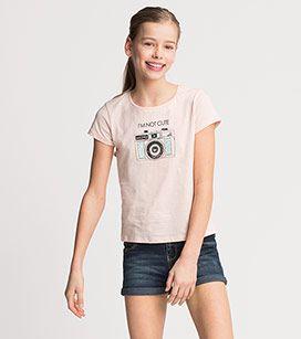 Zomer 17 Meisjes Shirt van biokatoen met korte mouwen in roze –  Voordelig Online bij C&A