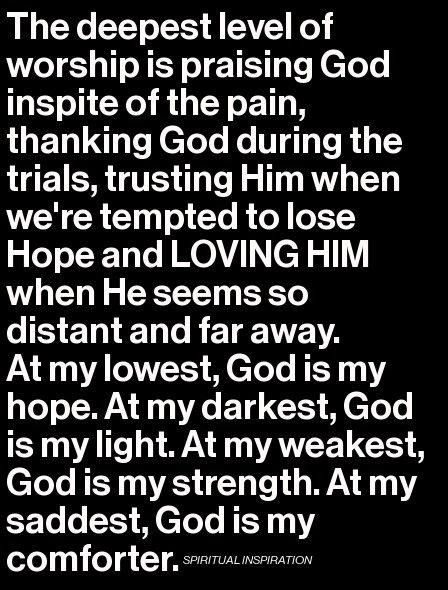 Choose to trust God and His ways even when we don't understand....