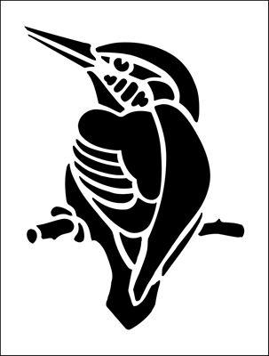 Kingfisher stencil from The Stencil Library BUDGET STENCILS range. Buy stencils online. Stencil code MS68.