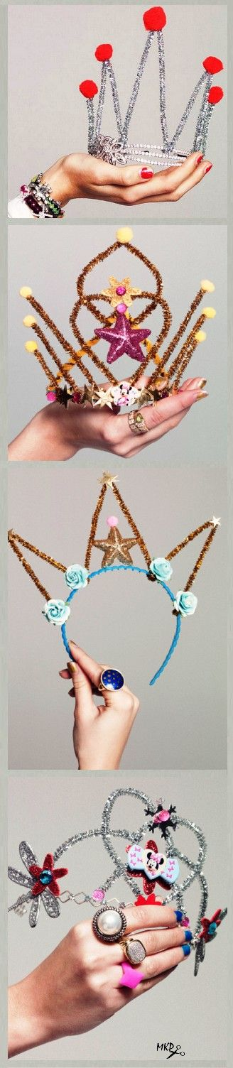 With Pipe Cleaners. DIY crowns and tiaras!