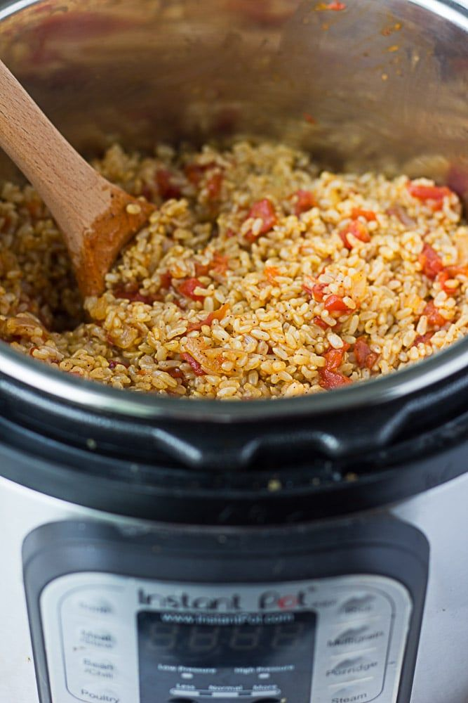 This quick and easy Instant Pot Spanish Rice is the perfect complement to any Mexican meal. 5 ingredients (+ salt/water), 30 minutes. You can also make this without an Instant Pot if you don't have one. Do you have an Instant Pot yet? I got one for Christmas last year and I love it. I was intimidated at first because of the whole 'pressure cooker' thing, but it's actually super simple to use and the all the safety features are great. You can't take off the lid until t...