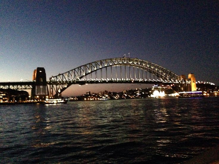 Sydney Harbour at night