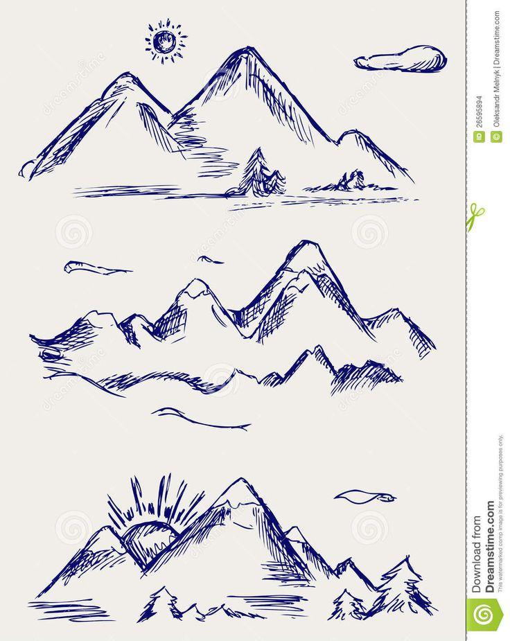 einfaches Berg Tattoo – Google-Suche