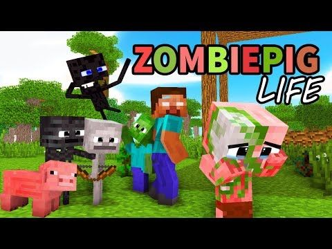 Monster School Enderman S Life Part 5 With Zombie Pigman S Life Best Minecraft Animation Youtube Monster School Animation Pigman