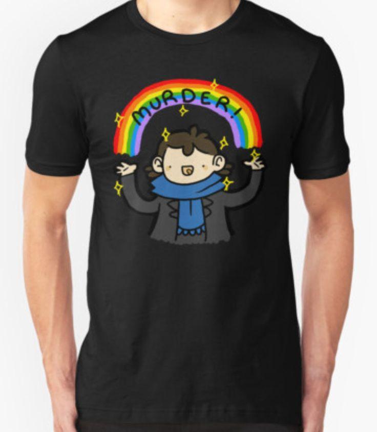 Sherlock Holmes Murder Rainbow Cartoon T-Shirt